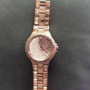 Michael Kors Camille Rose Gold Crystal Watch